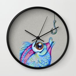 Hooked on you Wall Clock