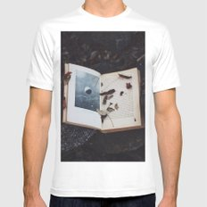 Book of the Stars MEDIUM White Mens Fitted Tee