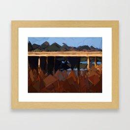Bridge over water Framed Art Print