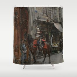 The Dispatch Bearer - Giovanni Boldini Shower Curtain