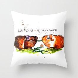 Guinea Pigs Feeling Awkward Throw Pillow