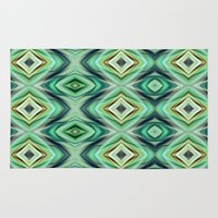 green pattern Area & Throw Rugs featuring Pattern green  by Christine baessler