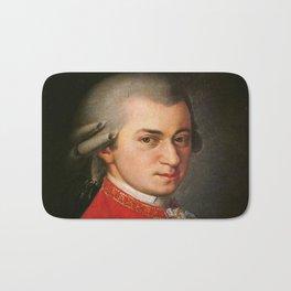 Barbara Krafft - portrait of Mozart Bath Mat
