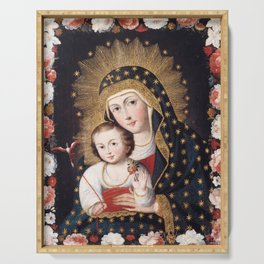 Madonna and Child with Bird, 1745 - Peru Serving Tray