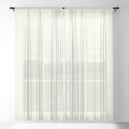 Large Horizontal Pastel Lemon Yellow Princess Elizabeth Regal Stripe Sheer Curtain
