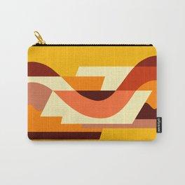 SUISSE - Art Deco Modern: AUTUMN ORANGE Carry-All Pouch