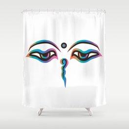 Rainbow Eyes of God of India Shower Curtain