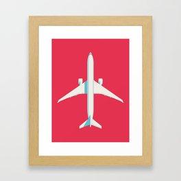 777 Passenger Jet Airliner - Crimson Framed Art Print