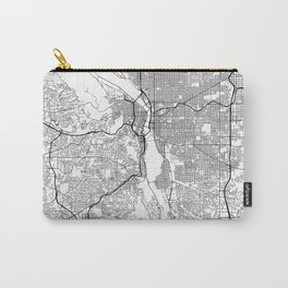 Minimal City Maps - Map Of Portland, Oregon, United States Carry-All Pouch
