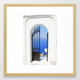 Mediterranean Gate Framed Art Print