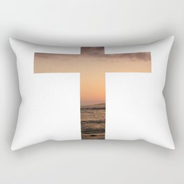 Sunset Cross Rectangular Pillow