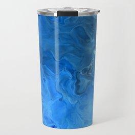 Blue Water Flow Acrylic Art Travel Mug