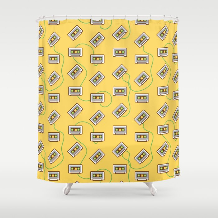 Cassette Fever Shower Curtain By Muatomi Society6