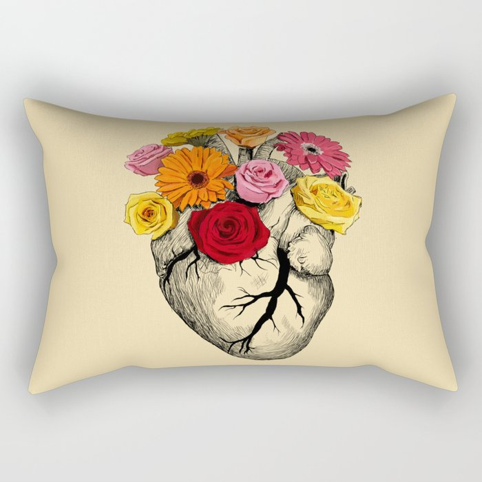 Flower Heart Rectangular Pillow