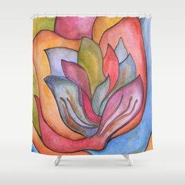 Bright Flower Shower Curtain
