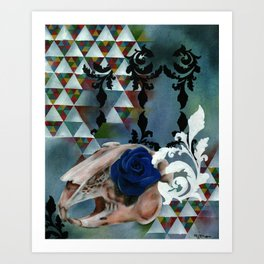 Rhosgobel Rabbit Art Print