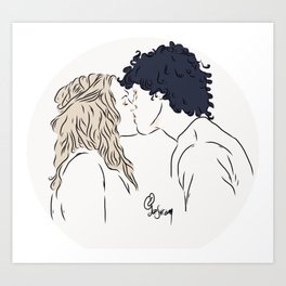 Bellarke [bellamy+clarke] Art Print