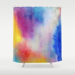 Abstract Watercolor Minimalist Rainbow - Fauve Shower Curtain