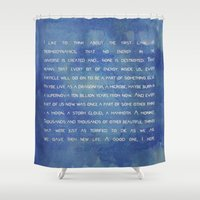 law Shower Curtains featuring the 1° law colors by Anabella Rodríguez