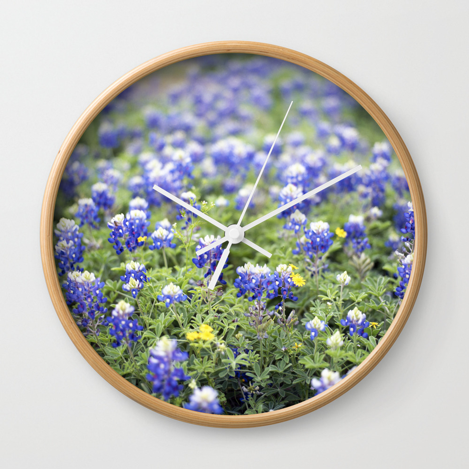 Texas State Flower Wall Clock By Williamdenson Society6