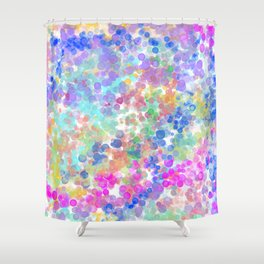 Elegant pink teal blue lavender watercolor bokeh Shower Curtain