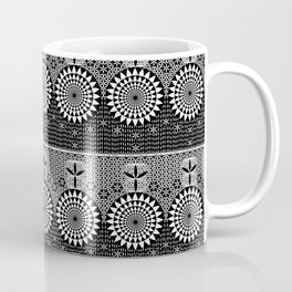 Sun Torus Sacred Geometry Black White Coffee Mug