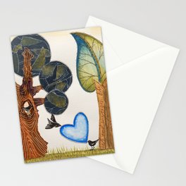 Birds in love Stationery Cards