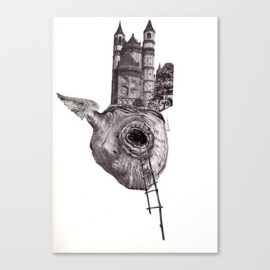 The Heart of The City Canvas Print