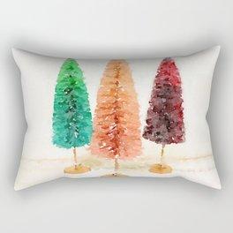 Vintage Bottlebrush Pastel Trees Rectangular Pillow