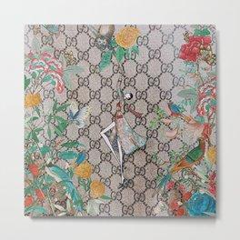 FloralGucci Metal Print