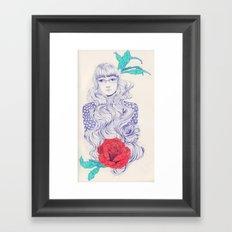 Flowery 02 Framed Art Print