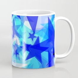Glowing starfish on a light background in projection and with depth. Coffee Mug