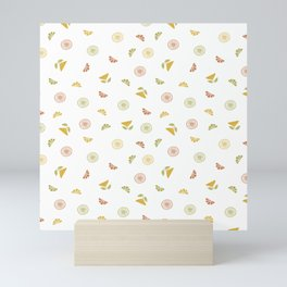 CITRUS SCATTER TEXTURE Mini Art Print