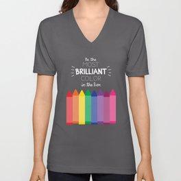 Most Brilliant Color Unisex V-Neck