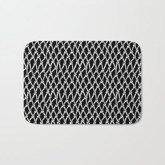 Net Black Bath Mat