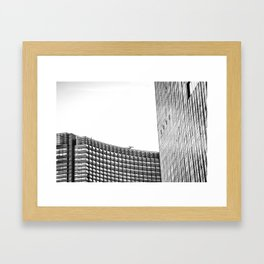 modern style buildings at Las Vegas, USA in black and white Framed Art Print