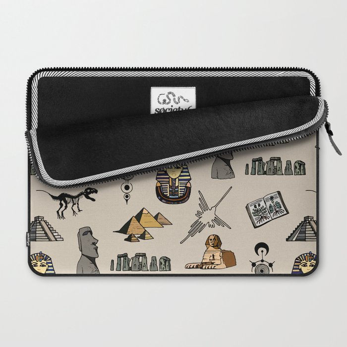 Dark Archeo pattern Laptop Sleeve