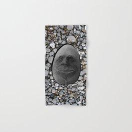 Happy Alien Monster Rock face , portrait in stone effect Hand & Bath Towel