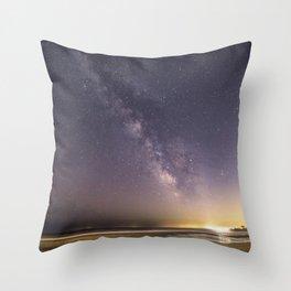 Milkyway at good harbor beach Throw Pillow