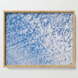 cloudy sky 2 Serving Tray
