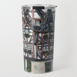 German streetscape ink drawing Travel Mug