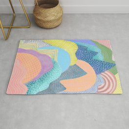 Modern Landscapes and Patterns Rug