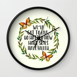 Falling Skies Wall Clock