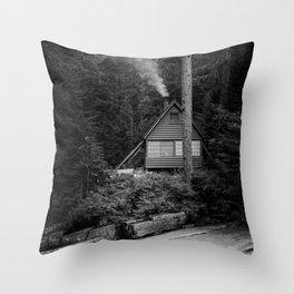 Cabin Smoke Throw Pillow