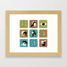 BJJ T Shirt, Brazilian Jiu Jitsu, Brasil, MMA, Mixed Martial Arts, Sensei Gift Framed Art Print