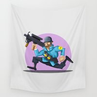 soldier Wall Tapestries featuring SOLDIER  (TF) by DROIDMONKEY