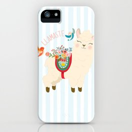 Llamaste - When A Llama Offers You A Respectful Greeting iPhone Case