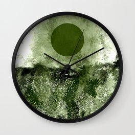Dark Moon Landscape Wall Clock