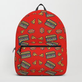 fast food red Backpack