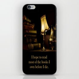 I hope to read most of the books I own before I die. iPhone Skin
